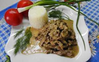 Бефстроганов из говядины в мультиварке (17 фото): классический рецепт приготовления с грибами и сметаной пошагово