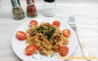 Рисовая каша с мясом (