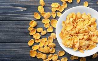 Кукурузные хлопья (34 фото): польза и вред продукта без сахара, калорийность несладких изделий, как делают