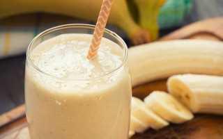 Молочный коктейль с бананом в блендере: рецепты бананового коктейля с молоком без мороженого и с