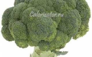 Состав брокколи: сколько калорий и БЖУ в 100 граммах вареной и жареной капусты, калорийность овоща,