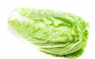 Пекинская капуста: сколько калорий в свежей и калорийность на 100 граммов, чем отличается от китайской,