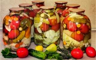 Засолка ассорти из овощей на зиму: лучшие рецепты соления овощного ассорти в банках и в