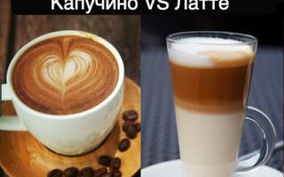 Чем отличается латте от капучино? Разница видов кофе, что крепче и куда добавляется больше молока