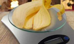 Сколько весит банан? Вес одного среднего фрукта без кожуры в граммах. 100 гр. одного очищенного