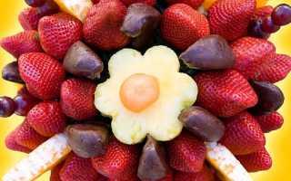 Букет из клубники в шоколаде (14 фото): как сделать цветы из ягод на шпажках своими руками